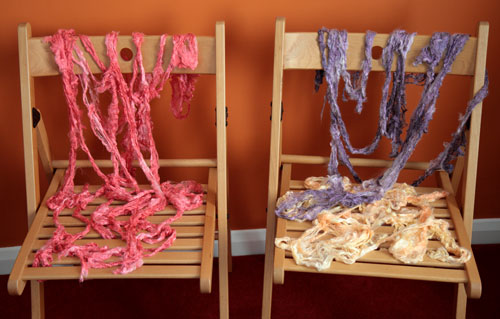 Silk tops drying