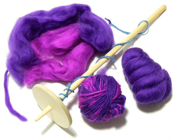 Merino tops, spindle and spun singles yarn
